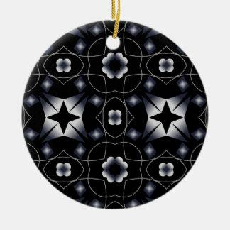 Caleidoscopio brillante negro fresco de la adorno redondo de cerámica