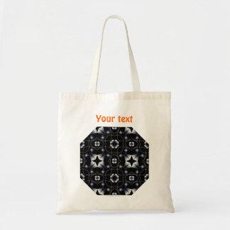 Caleidoscopio brillante negro fresco de la estrell bolsa tela barata