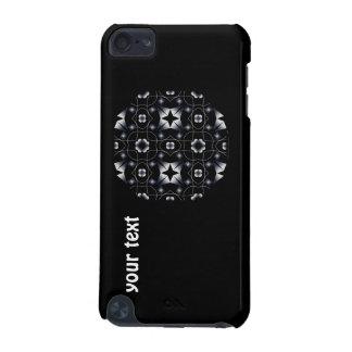 Caleidoscopio brillante negro fresco de la estrell funda para iPod touch 5G