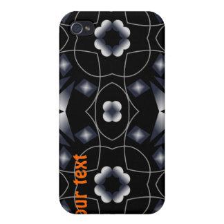 Caleidoscopio brillante negro fresco de la estrell iPhone 4 funda
