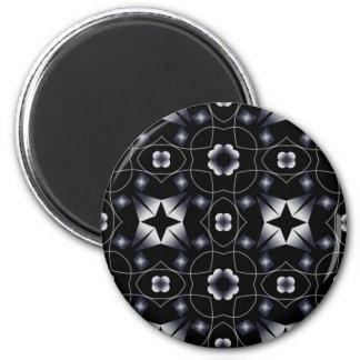 Caleidoscopio brillante negro fresco de la estrell imán redondo 5 cm