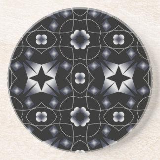 Caleidoscopio brillante negro fresco de la estrell posavasos de arenisca