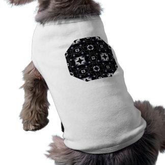 Caleidoscopio brillante negro fresco de la estrell playera sin mangas para perro