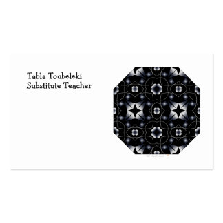 Caleidoscopio brillante negro fresco de la tarjetas de visita