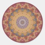 Caleidoscopio colorido 10 de las baldosas etiquetas redondas