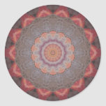 Caleidoscopio colorido 12 de las baldosas pegatina redonda
