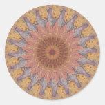 Caleidoscopio colorido 13 de las baldosas etiqueta redonda