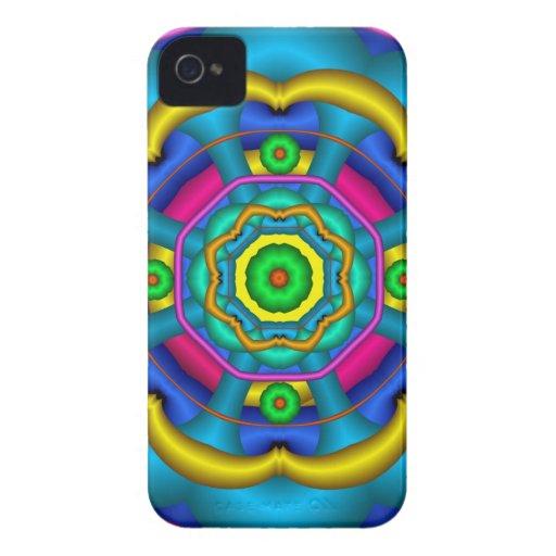 Caleidoscopio colorido fresco iPhone 4 protector