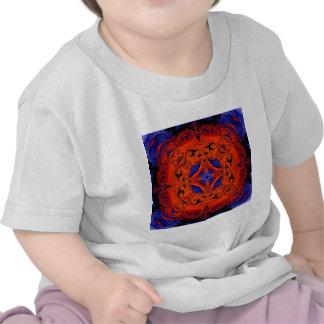 Caleidoscopio de la antorcha camisetas