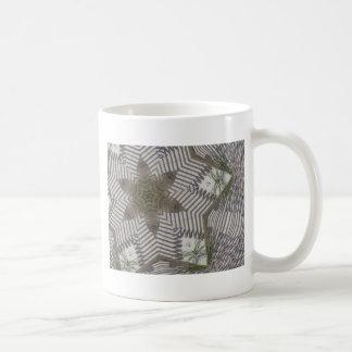 Caleidoscopio de la cerca de la playa tazas de café