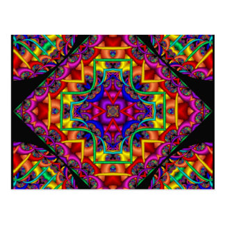 Caleidoscopio de la fascinación del fractal tarjetas postales
