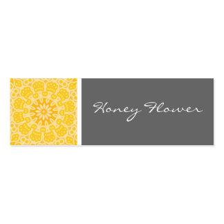 Caleidoscopio de la flor de la miel tarjetas de visita