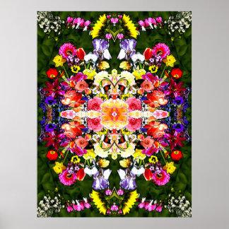 Caleidoscopio de la flor impresiones
