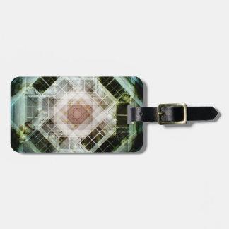 Caleidoscopio de la foto etiquetas de maletas