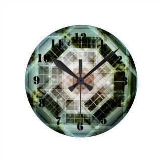 Caleidoscopio de la foto reloj redondo mediano