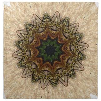 Caleidoscopio de la pluma del pavo real del vintag servilletas