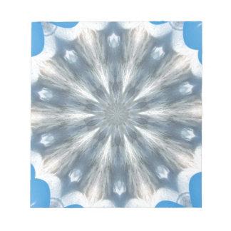 Caleidoscopio de la reina del hielo bloc de notas