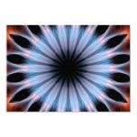 Caleidoscopio de las Fuego-Llamas Invitación 8,9 X 12,7 Cm