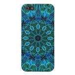 Caleidoscopio de las gemas del verde azul iPhone 5 coberturas