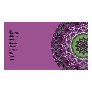 Caleidoscopio de las lilas tarjeta de visita
