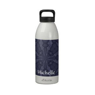 Caleidoscopio de los azules marinos botellas de agua reutilizables