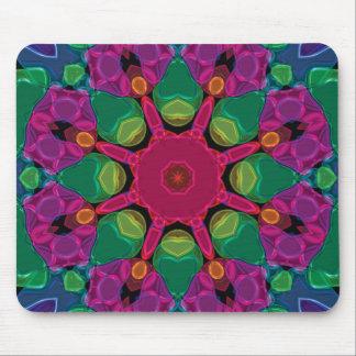 Caleidoscopio de neón brillante abstracto Mousepad