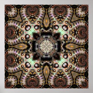 Caleidoscopio de seda 3 del fractal impresiones