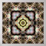Caleidoscopio de seda 4 del fractal impresiones