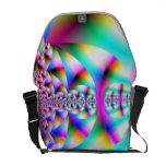Caleidoscopio del arco iris bolsa de mensajeria