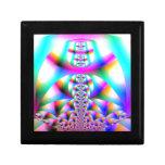 Caleidoscopio del arco iris cajas de joyas