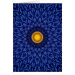 Caleidoscopio del auf Blau de Ente Tarjeta Pequeña