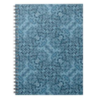 Caleidoscopio del azul del flujo libros de apuntes