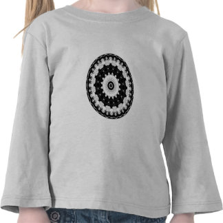 Caleidoscopio del contraste camiseta