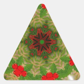 caleidoscopio del día de fiesta del fractal pegatina trianguloada