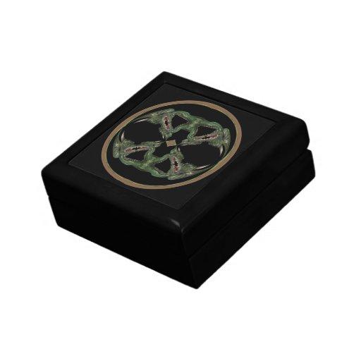 Caleidoscopio del dragón verde cajas de recuerdo
