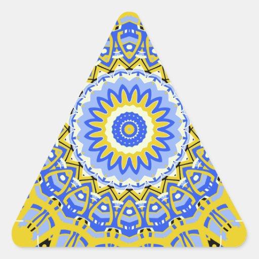 Caleidoscopio del estilo de Provencal del francés Pegatina De Triangulo