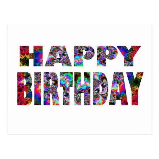 Caleidoscopio del feliz cumpleaños postal