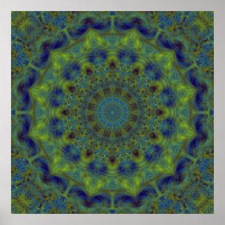 Caleidoscopio del fractal de la serenidad posters