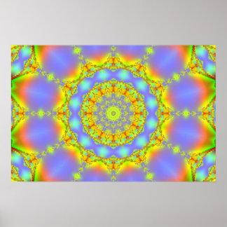 Caleidoscopio del fractal de las joyas posters