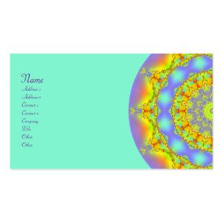 Caleidoscopio del fractal de las joyas plantillas de tarjetas de visita