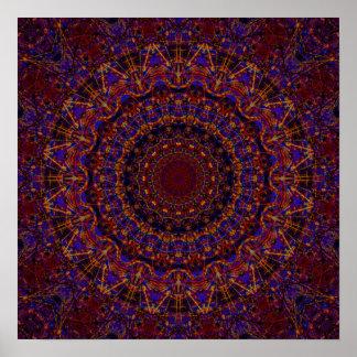 Caleidoscopio del fractal de las secuencias poster