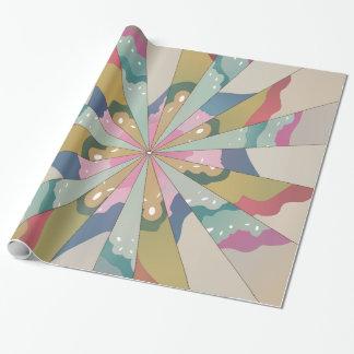 Caleidoscopio del fractal papel de regalo