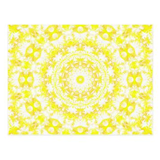 Caleidoscopio del merengue del limón tarjetas postales