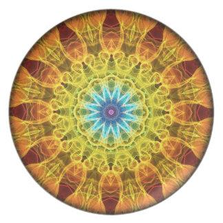Caleidoscopio del ramo de la flor platos