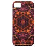 Caleidoscopio del rojo anaranjado iPhone 5 coberturas