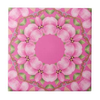 Caleidoscopio del rosa de la baldosa cerámica azulejo cuadrado pequeño