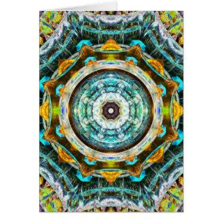 Caleidoscopio del vidrio del fractal tarjeta de felicitación