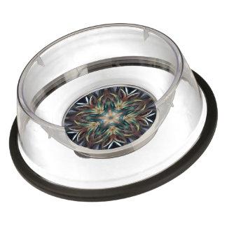 Caleidoscopio delicado delicioso de la mandala de cuenco para mascotas