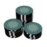 Caleidoscopio en trullo juego de fichas de póquer