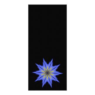 Caleidoscopio floral azul amarillo hipnótico calma lona personalizada